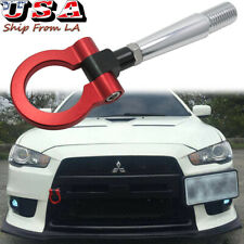Track Racing Style Screw On Aluminum Tow Hook for 08-16 Mitsubishi Lancer Evo X