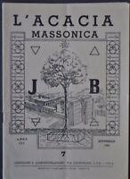 Massoneria Sette Acacia Massonica Garibaldi Repubblica San Marino Lombardia 1949