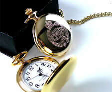 ROYAL TANK REGIMENT 24k Gold Clad POCKET WATCH & CHAIN RTR LUXURY GIFT CASE ARMY