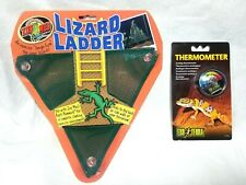 Zoo Med Lizard Ladder Soft Nylon Mesh Reptile and Exo-Terra Reptile Thermometer