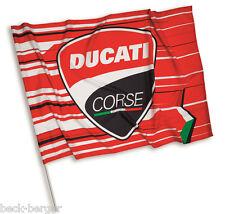 Ducati corse Speed bandera bandera Flag Bandiera rojo negro blanco nuevo!!!