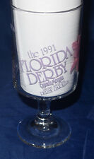 VINTAGE FLORIDA DERBY PEDESTAL GLASS - CAPTAIN MORGAN RUM 1991