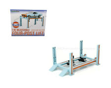 GREENLIGHT 1:18 ADJUSTABLE FOUR-POST LIFT GULF RACING EDITION 13503