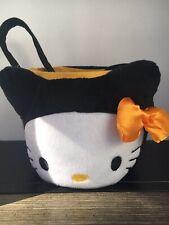 Hello Kitty Plush Halloween Candy Trick Treat Bucket Basket