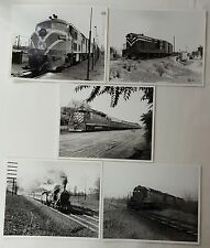 Vintage Train Photographs - Jersey Central - Lot of 5 - railroad lines tracks