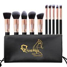 Make Up Brush Set 10 Brushes Kit Powder Concealer Eyeshadow Blush Foundation