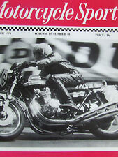 MOTORCYCLE SPORT OCT 1974 SAGA CAPER BROUGH SUPERIOR MANX GP HONDA STORY OF PETE
