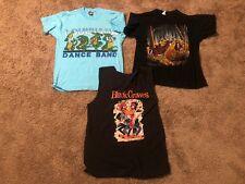Vintage Men's T Shirt Lot Of 3 Hipster Bands Vintage Black Crowe's Dance Band