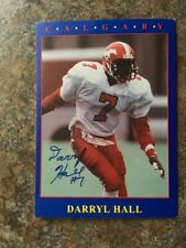 signed in person DARRYL HALL  CFL  CALGARY STAMPEDERS  JOGO # 161  1990