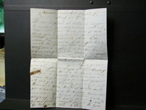 1855 Monroe Louisiana letter to Germanton North Carolina