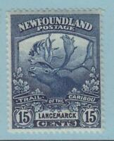 NEWFOUNDLAND 124 MINT NEVER HINGED OG ** NO FAULTS EXTRA FINE ! CARIBOU