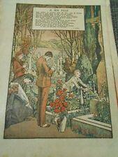 A Ma Fille Poème V. Hugo Print 1928
