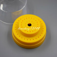 60 Holes Round Dental Burs Holder Block Case Slots With Plastic Lid Yellow Sale