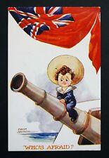 WW1 Postcard Theberton Street Islington London, N1 Who`s Afraid Fred Sprugin