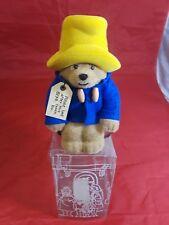 """Paddington Bear Money Box Eden Toys Inc 1987 7"""" Tall"""