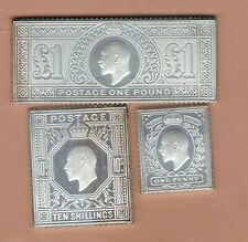 More details for three silver jubilee king edward silver stamp ingots in near mint condition.
