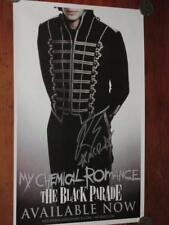 """MY CHEMICAL ROMANCE - HAND SIGNED """"RAY TORO"""" 11"""" X 17""""  POSTER"""