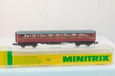 Minitrix ( 13116) N Gauge Gresley Corridor 3rd class coach, BR Maroon