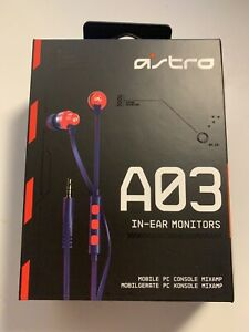 Astro A03 In Ear earbuds/monitors (Blue/Red)