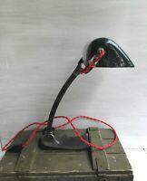 Vintage Green Banker Lamp by SCHAKO Art Deco Desk Lamp Enameled Shade Desk Lamp