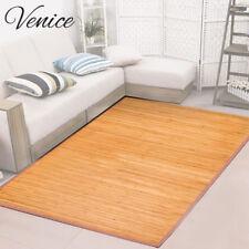 Venice Natural Bamboo 6 X 9 Floor Mat Area Rug Indoor Carpet Non