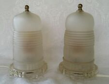 1930-40s Art Deco Antique Electric Skyscrapers Night/Boudoir Table Lamps Work