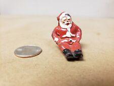 Antique Vtg Original 1930s Lead Santa Claus Figure Barclay's or Manoil for Sled