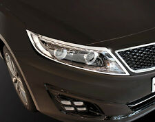 Chrome Front Head Light Lamp Molding Trim Cover 2p For 2014 2015 Kia Optima : K5