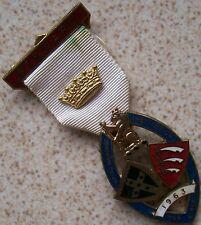 Vintage Masonic Enamel Medal 31 mm. aside 80 mm. in large
