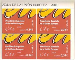 ESPAÑA 2010 - PRESIDENCIA ESPAÑOLA UNION EUROPEA - BLQ-4