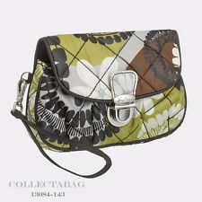 Authentic Vera Bradley Cocoa Moss Puffy Wristlet 13084-143