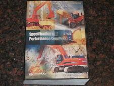 DAEWOO EXCAVATOR SPECIFICATIONS AND PERFORMANCE HANDBOOK MANUAL BOOK
