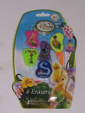 DISNEY FAIRIES : 6 PACK ERASERS