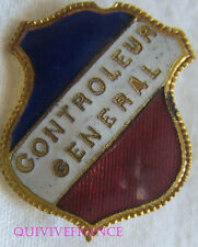 BG6985 - INSIGNE BADGE TRICOLORE - CONTROLEUR GENERAL