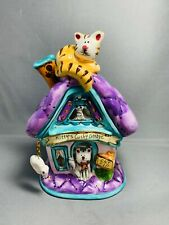 Blue Sky Kittys Cushy Cottage Tea Light Candle House 2009 heather goldminc