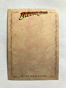 2208 TOPPS HERITAGE INDIANA JONES BLANK SKETCH CARD SUPER RARE BUY IN QUANTITY!