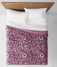 Opalhouse Love In A Mist Velvet Full Queen Quilt  Floral NWT Purple