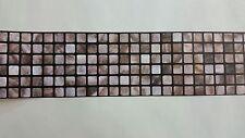 AS Creation Brown/Beige Mosaic Tile Kitchen/Bathroom Border Wallpaper (8264-42)