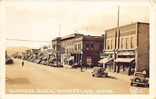 Montpelier ID Street View Business Block Store Fronts RPPC Postcard