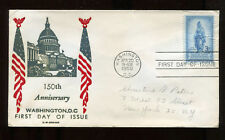 #989 3c Freedom Fdc Mellone #20, C.W. George thermographed cachet Fd5915