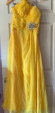 Party Time Formal Long Dress Yellow Size 6 Perfect For Any Occasion.