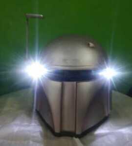 Silver Mandalorian  predator helmet motorcycle  motif dot approved n ECE