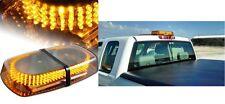 Amber Hazard Warning LED Mini Bar Strobe Light w/ Magnetic Base New Free Ship