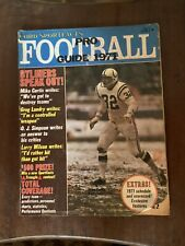 1971 Cord Sportfacts Pro Football Guide magazine, Mike Curtis,Baltimore Colts