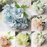 5 Bunch 5 Heads Faux Artificial Silk Floral Flower Bouquet Hydrangea Party Decor