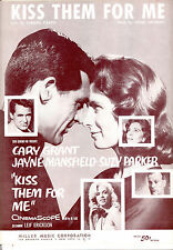 "KISS THEM FOR ME Sheet Music ""Kiss Them For Me"" Cary Grant Jayne Mansfield"