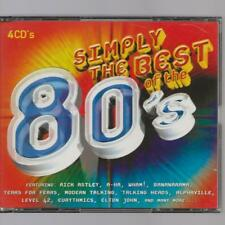 4 CD BOX SIMPLY THE BEST OF THE 80'S EIGHTIES -RICK ASTLEY MODERN TALKING A-HA