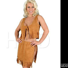 NATIVE RED INDIAN SQUAW FancyDress Costume Womens Outfit Sexy PLAYBOY 8/10/12/14