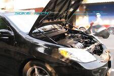 03-08 Toyota Matrix XR XRS Black Strut Hood Shock Gas Lift Stainless Damper Kit