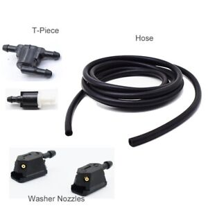 2m Windshield Wiper Washer Jet Tube Pipe Hose W/ Connector T Y Washer